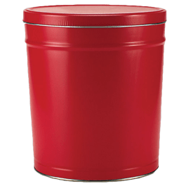 6.5 gallon decorative can with solid red theme