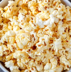 close up of bunch of kettle corn popcorn