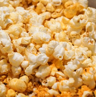 close up of bunch of butter popcorn